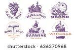 wine set logo   vector...   Shutterstock .eps vector #636270968