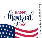 vector happy memorial day card. ... | Shutterstock .eps vector #636279374