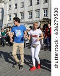cracow  poland   april 1  2017  ... | Shutterstock . vector #636279530