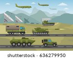 military army big set of base... | Shutterstock .eps vector #636279950