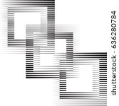 square logo with lines.unusual... | Shutterstock .eps vector #636280784