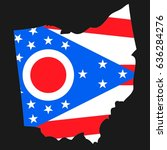 us state with flag for ohio | Shutterstock . vector #636284276