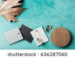 background of interior decor... | Shutterstock . vector #636287060