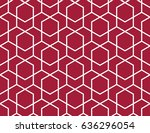 abstract geometric pattern with ... | Shutterstock .eps vector #636296054