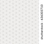 flower of life seamless pattern ... | Shutterstock .eps vector #636303710