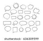 vector comic speech bubbles... | Shutterstock .eps vector #636309599
