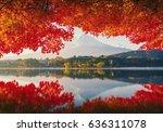 Mt.fuji In Autumn On Sunrise A...