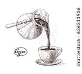 vector sketch illustration of... | Shutterstock .eps vector #636311936