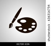 paint brush with palette icon.... | Shutterstock .eps vector #636316754