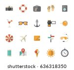 summer holiday  tourism and... | Shutterstock .eps vector #636318350