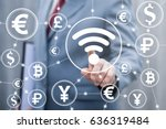 financial technology trade... | Shutterstock . vector #636319484