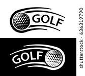 golf ball motion line symbol... | Shutterstock .eps vector #636319790