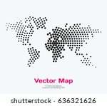vector world map template with... | Shutterstock .eps vector #636321626
