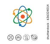 atom model icon | Shutterstock .eps vector #636324014