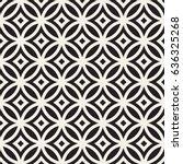 vector seamless black and white ... | Shutterstock .eps vector #636325268