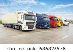 truck  transportation  freight... | Shutterstock . vector #636326978