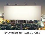 front view of empty billboard... | Shutterstock . vector #636327368