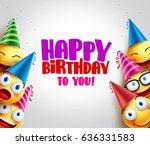 smileys vector background with... | Shutterstock .eps vector #636331583