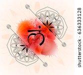 open muladhara chakra on red...