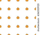 pumpkin hand drawn on white... | Shutterstock .eps vector #636333920