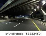 empty freeway at night   Shutterstock . vector #63633460