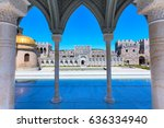 arch wiew of the famous... | Shutterstock . vector #636334940