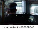 train driver in japan | Shutterstock . vector #636338048
