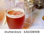 craft beer ipa at wedding...   Shutterstock . vector #636338408