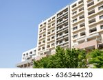 high rise residential apartment | Shutterstock . vector #636344120