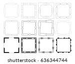vector icon set of mirror frames | Shutterstock .eps vector #636344744