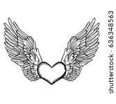 Line Art Illustration Of Angel...