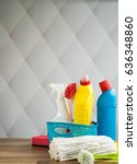 cleaning products | Shutterstock . vector #636348860