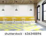 cafe interior with posters... | Shutterstock . vector #636348896