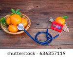 vitamin c from fruits good for... | Shutterstock . vector #636357119