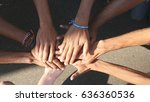 arm of all races and colors... | Shutterstock . vector #636360536