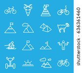 mountain icons set. set of 16... | Shutterstock .eps vector #636361460