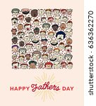 vector icon set of fathers day... | Shutterstock .eps vector #636362270