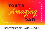 vector icon set of fathers day... | Shutterstock .eps vector #636362300