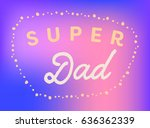 vector icon set of fathers day... | Shutterstock .eps vector #636362339