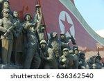 korean war against us  ... | Shutterstock . vector #636362540