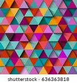seamless background pattern... | Shutterstock .eps vector #636363818