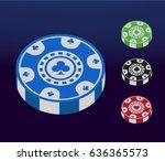 modern isometric poker chip icon