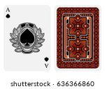 ace of spades face with spades... | Shutterstock .eps vector #636366860