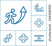 forward icon. set of 6 forward... | Shutterstock .eps vector #636368303
