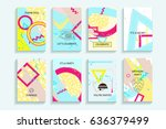 universal abstract posters set. ...   Shutterstock . vector #636379499