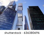 skyscrapers city business... | Shutterstock . vector #636380696