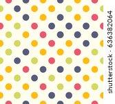 seamless polka dot pattern.... | Shutterstock .eps vector #636382064