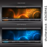vector abstract web banner | Shutterstock .eps vector #63638461