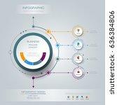 vector infographic 3d circle... | Shutterstock .eps vector #636384806