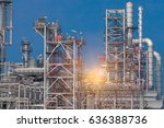 industrial zone the equipment... | Shutterstock . vector #636388736
